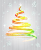 Shiny red yellow green tree flare concept Royalty Free Stock Photos
