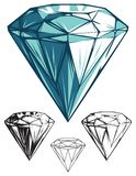 Shiny Reflective Diamond with Simplified Versions