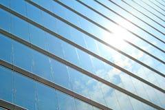 Shiny reflexion. A facade mirroring the shiny blue sky Stock Photography