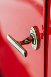 Shiny retro style door handle of old classic car Stock Photo