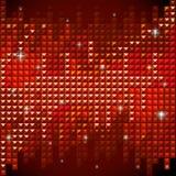Shiny rhinestone red mosaic background Royalty Free Stock Image