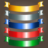 Shiny ribbon banners Royalty Free Stock Photography
