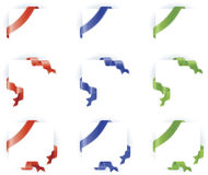 Shiny Ribbon Border Design Set Royalty Free Stock Photo