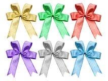 Shiny ribbon set with clipping path Royalty Free Stock Image