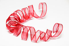 Shiny ribbons on a white background Royalty Free Stock Photo