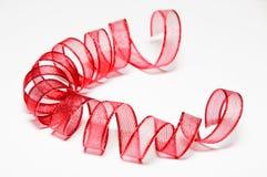 Shiny ribbons on a white background Royalty Free Stock Photo