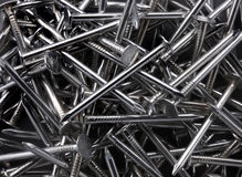 Shiny Roofing Nails Stock Photography