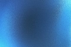 Shiny rough blue metal wall, abstract texture background.  stock image
