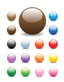 Shiny round buttons. Glossy, shiny candy looking buttons for website, internet, design and other usage. Completed with square and elongated bar buttons in my Stock Photo
