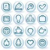 Shiny Round Icons #1 Stock Photography