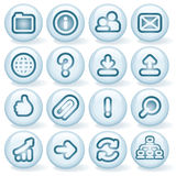 Shiny Round Icons #2 Royalty Free Stock Photo