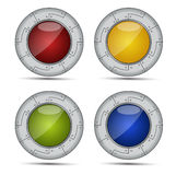 Shiny round icons Stock Photography