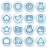 Shiny Round Icons #3 Stock Images