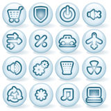 Shiny Round Icons #5 Stock Photography