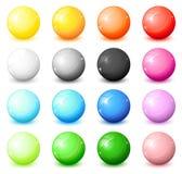 Shiny round icons. A huge set of shiny round icons royalty free illustration