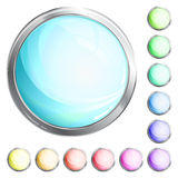 Shiny round icons. Shiny coloured vector round icons Stock Images