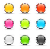 Shiny round icons. Set of shiny round icons Stock Photo
