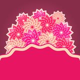 Shiny Round Pink Flower Bouquet Royalty Free Stock Images