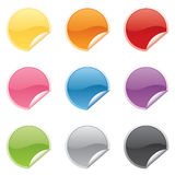 Shiny Round Stickers Royalty Free Stock Photo