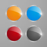 Shiny round web banners or buttons. Vector illustration Royalty Free Stock Photography