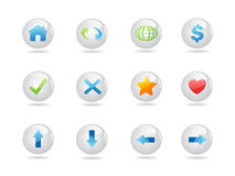 Shiny round web icons Royalty Free Stock Photo