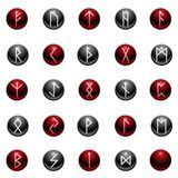 Shiny rune set Royalty Free Stock Image