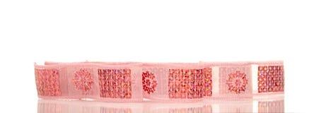 Shiny satin ribbon with reflection Stock Photo