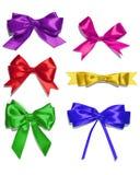 Shiny satin ribbon on white background Stock Images