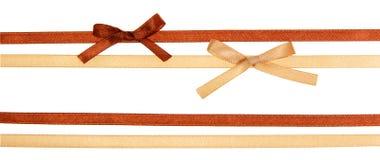 Shiny satin ribbons Royalty Free Stock Images