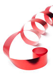 Shiny scarlet ribbon for gift wrapping Royalty Free Stock Photo