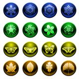 Shiny season icons Royalty Free Stock Image