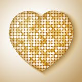 Shiny sequins heart Royalty Free Stock Photo