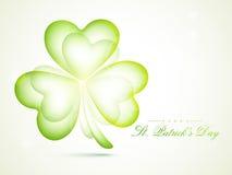 Shiny shamrock leaf for St. Patricks Day celebration. Royalty Free Stock Photography