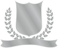 Shiny shield crest. A grey shiny shield crest Stock Images