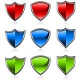 Shiny shields Stock Photos