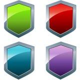 Shiny shields Stock Photo