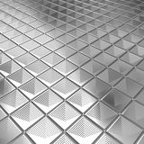 Shiny silver aluminium tile background Royalty Free Stock Images