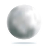 Shiny Silver Ball. With mesh effect Vector Illustration Stock Images