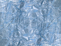 Shiny silver blue textile background Stock Image