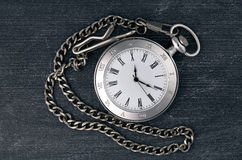 Shiny silver chain watch Royalty Free Stock Images