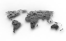 Shiny Silver Earth Royalty Free Stock Images