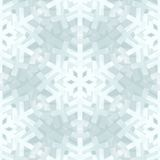 Shiny Silver Light Snowflakes Seamless Pattern for Stock Images