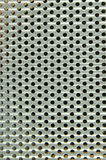 Shiny silver metal pattern with round hole Royalty Free Stock Photos