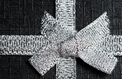 Shiny silver ribbon Stock Photo
