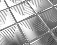 Shiny silver tiles background Stock Images