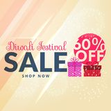 Shiny siwali sale with 60% off promotional template. Vector Royalty Free Stock Image