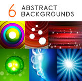 Shiny smooth color abstract vector backgrounds Stock Photo