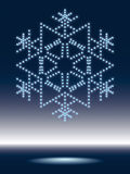 Shiny snowflake Stock Photography