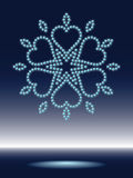 Shiny snowflake. Made from sparkling water-drops vector illustration