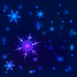 Shiny snowflake vector background Stock Image